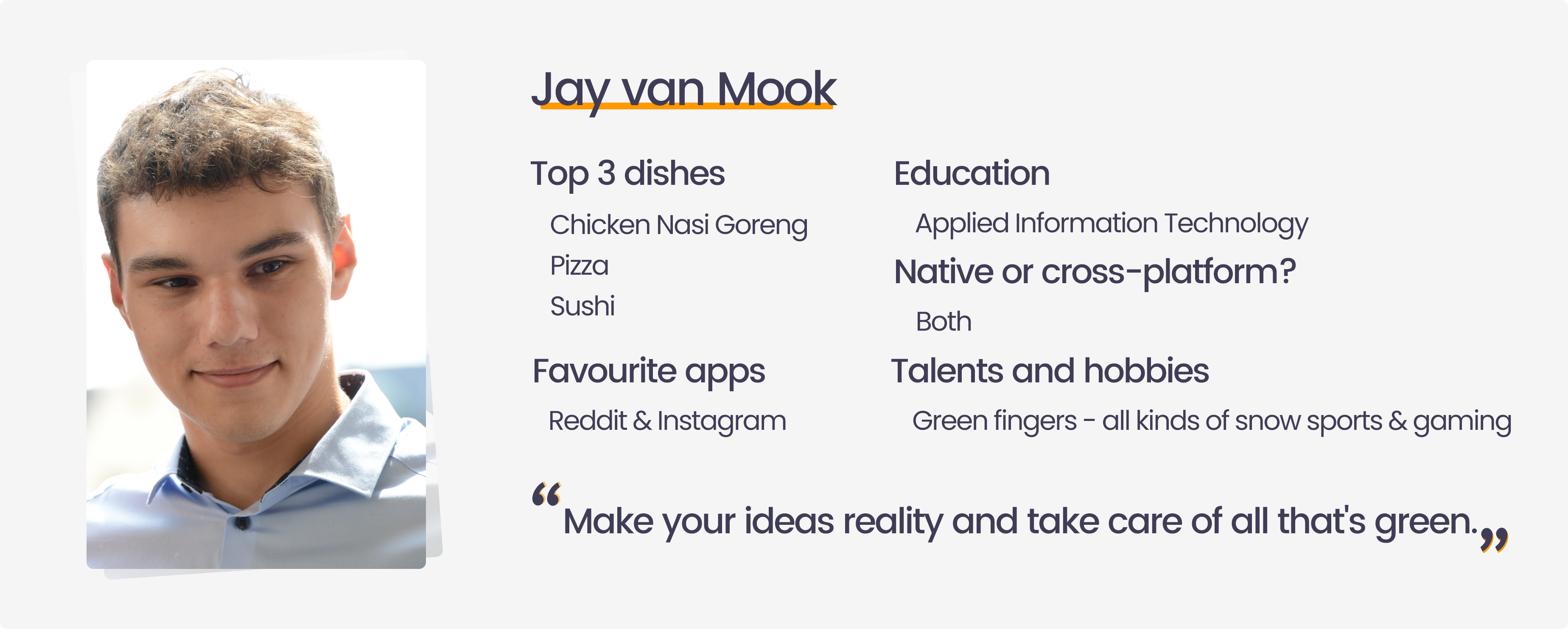 Testimonial internship at Endare from Jay van Mook