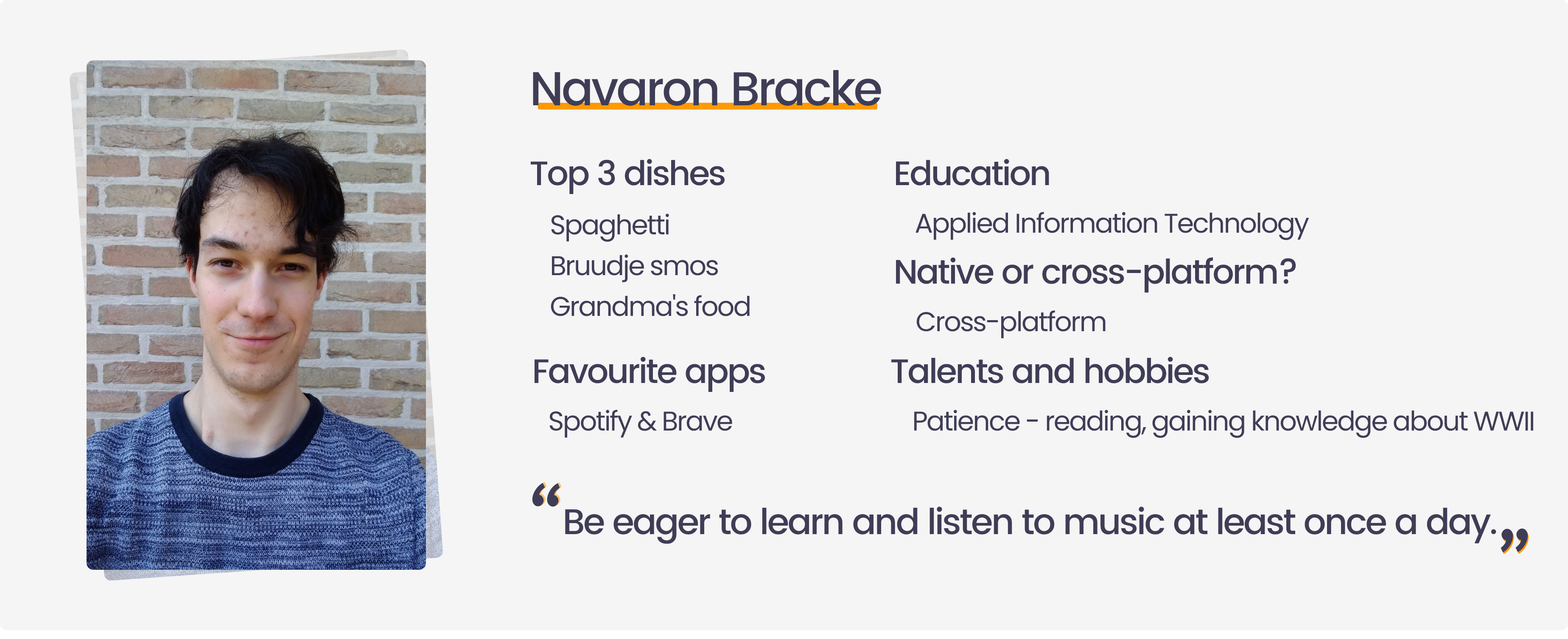 Testimonial internship at Endare from Navaron Bracke