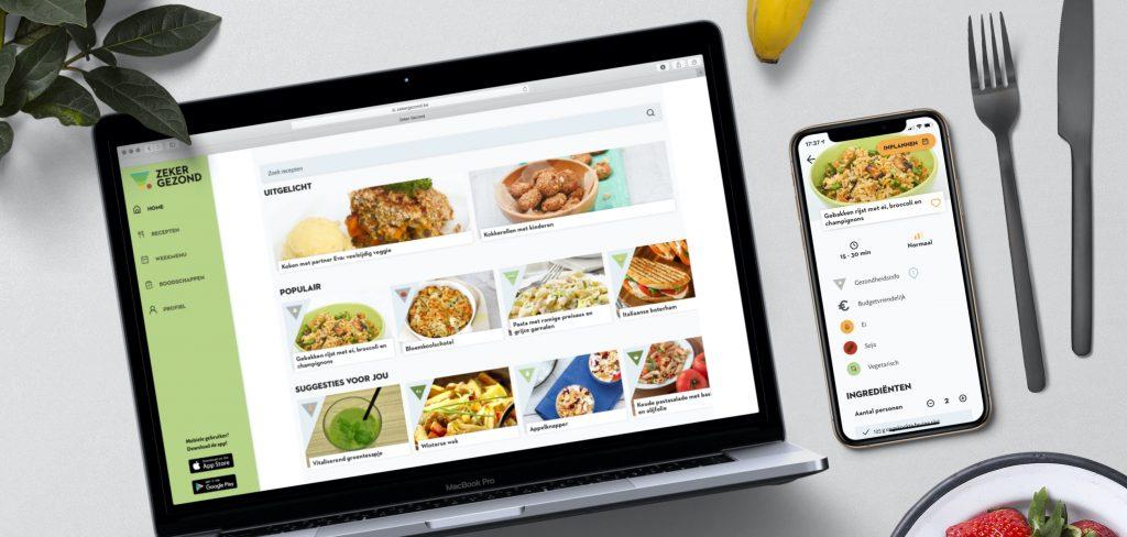 mobile application, web applications, zeker gezond, endare, your digital innovation partner