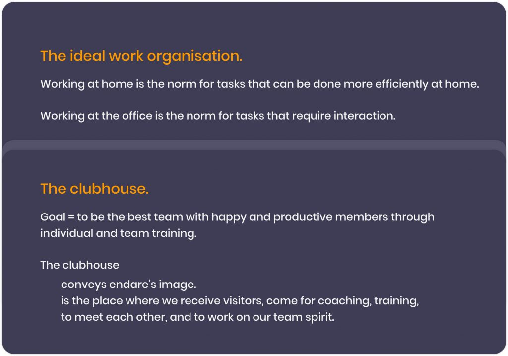 Why working remotely is here to stay at Endare - The clubhouse as the new ideal work organisation at Endare